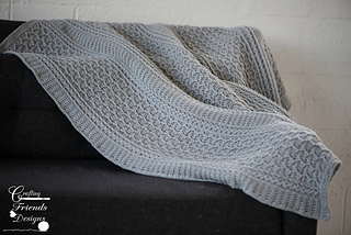 Cabled Zig Zag Throw