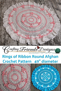 Rings of Ribbon Spring Round Afghan crochet pattern
