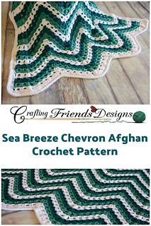 Sea Breeze Chevron Afghan crochet pattern