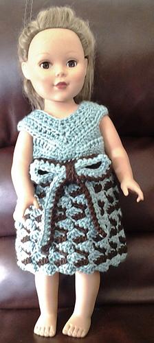 "Ribbon Candy 18"" Doll Dress"