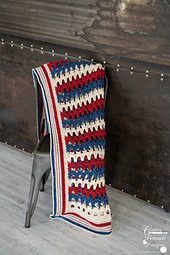 Patriotic Archway Throw Crochet pattern