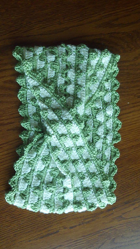 Mountain Lace Infinity Scarf crochet pattern test by Rebecca Cannon