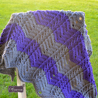 Braided Cable Chevron Afghan pattern test by Emily Truman