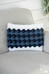 Traveling Arrows Rectangle Pillow form / Pillow Cover crochet pattern