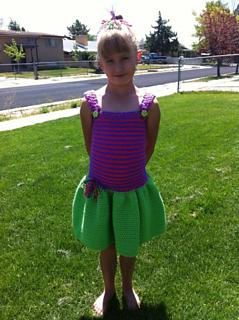 Swirly Whirly Child Sundress crochet pattern test by Amber