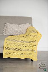 Sunny Garden Trellis Blanket crochet pattern