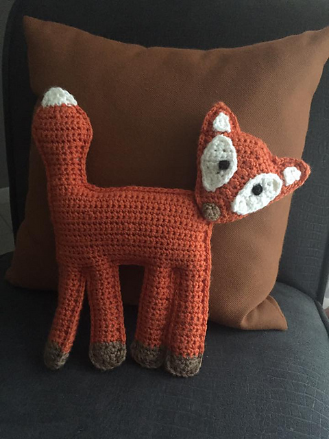 half double: Crochet Fox Pillow... Pattern to come!   640x480