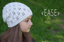 Lace slouchy beanie hat