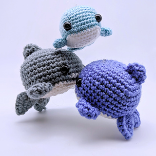 Baby Humpback Crochet Whale Free Pattern - One Dog Woof | 320x320