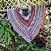 Glowing blue shawl pattern