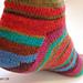 Strømper fra tåen op med kilehæl pattern