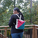 Tunisian Color Block Backpack pattern