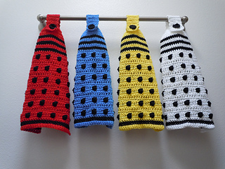 Ravelry Doctor Who Dalek Hanging Towel Pattern By Critical