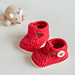 Ruby Slippers Baby Booties pattern