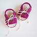 Crochet Baby Booties - Sandals - LITTLE TRAVELLER pattern
