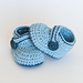 Crochet Baby Booties - Blue Whale pattern