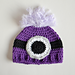 Evil Minion Inspired Crochet Baby Hat pattern