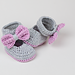 Lavender Bow Tie Baby Booties pattern