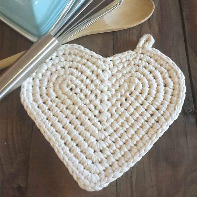 Heart Potholder Pattern By Angie Paul Ravelry