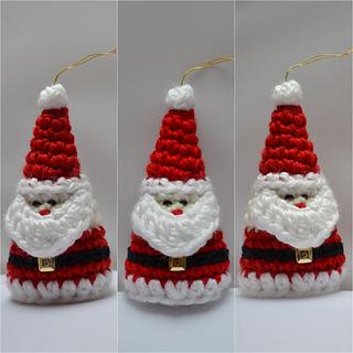 Crochet Christmas Ornaments Pattern.Crochet Santa Christmas Ornament Pattern By Aneta Izabela