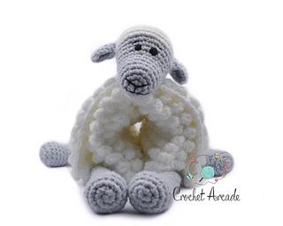 Black Sheep Toy. Vintage Crochet Pattern.