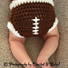 Football Hat and Diaper Cover Set pattern