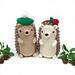 Mr. and Mrs. Hedgehog pattern