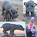 Realistic Baby Hippo & Hat pattern