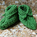 Elfin Baby Booties pattern