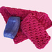 Hot Pink Washcloth and Soap Saver pattern