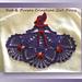 Red & Purple Crinoline Girl Doily (Item # 0472) pattern