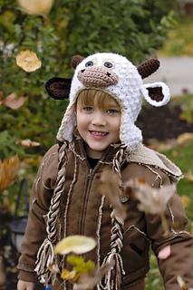 Crochet Cow Hat