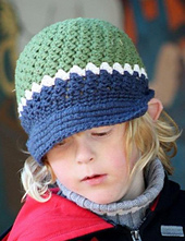 Rainer Crochet Newsboy Cap