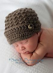 Tiny Textures Crochet Newsboy Cap
