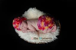 Newborn Crochet Hat and Diaper Cover Set