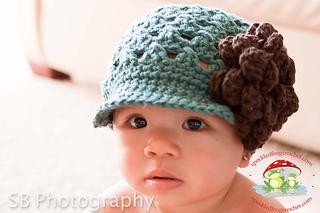 Chloe Crochet Newsboy Cap