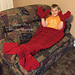 Thick and Fluffy Lobster Crawfish Blanket pattern