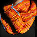 Fire and Ice Striped Cowl pattern