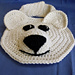 Charming Polar Bear Baby Drool Bib pattern