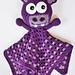 Bobble Head Blanket Buddy, Lovey Happy Hippo pattern