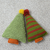 Textured and Striped (separate pattern) Christmas Trees!