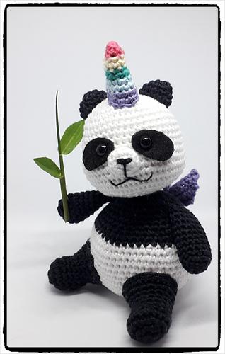 Panda Amigurumi Maxi Em Crochê Círculo - R$ 89,00 em Mercado Livre | 500x318