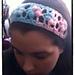 Puff Flower Stitch Headband pattern