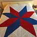 Multi Color Granny Square Star Afghan pattern