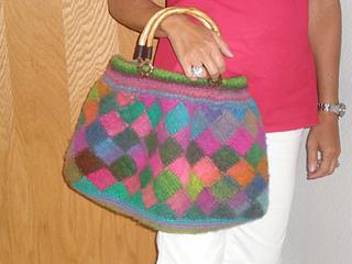 Entrelac felted purse