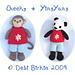 pocket pals monkey & panda bear pattern