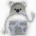 Koala Bear Hat and Diaper Cover Set pattern