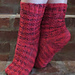 Black & Red All Over Socks pattern