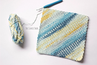 Moss Stitch Washcloth