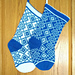 Sapphire Diamonds Stocking pattern